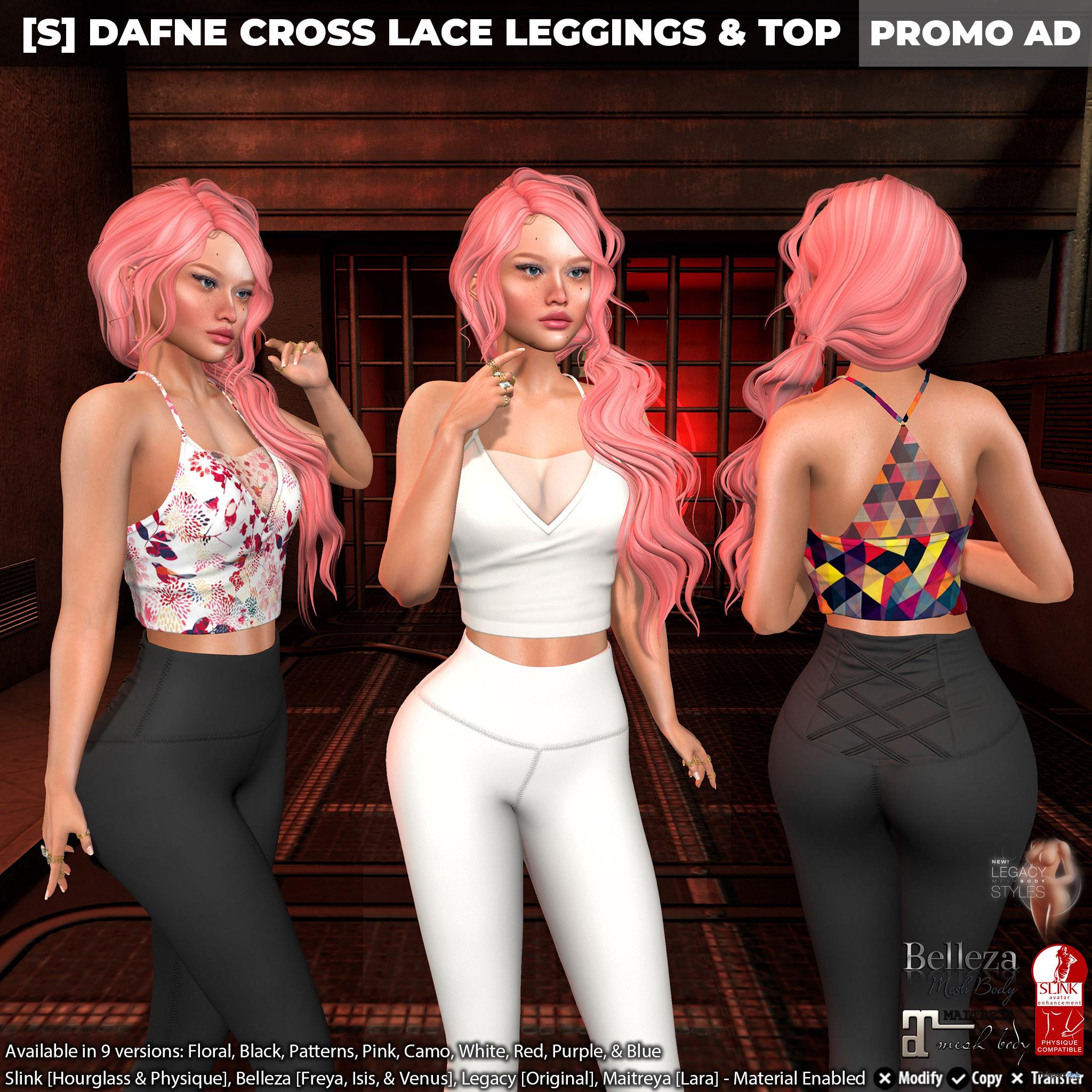 New Release: [S] Dafne Cross Lace Leggings & Top by [satus Inc] - Teleport Hub - teleporthub.com