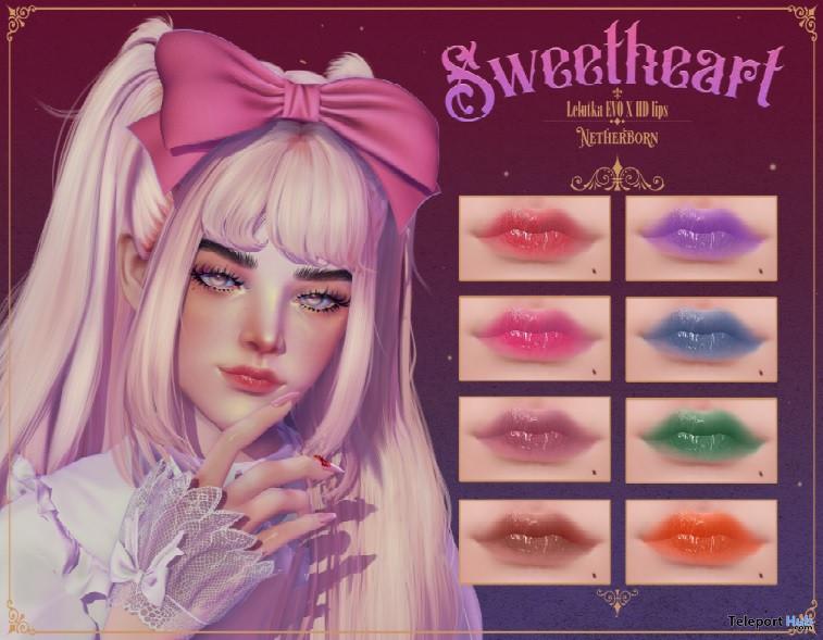 Sweetheart HD Lips For Lelutka Evo X July 2021 Group Gift by [Netherborn] - Teleport Hub - teleporthub.com