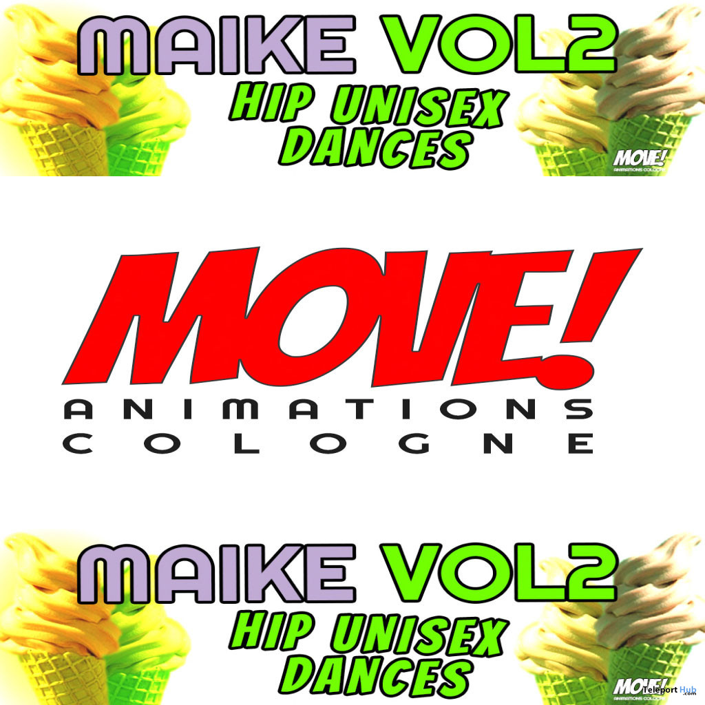 New Release: Maike Vol 2 Hip Unisex Bento Dance Pack by MOVE! Animations Cologne - Teleport Hub - teleporthub.com