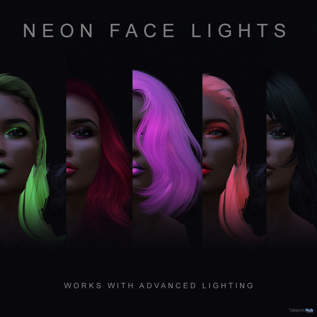 Neon Face Lights July 2021 Gift by Aegir Giha - Teleport Hub - teleporthub.com