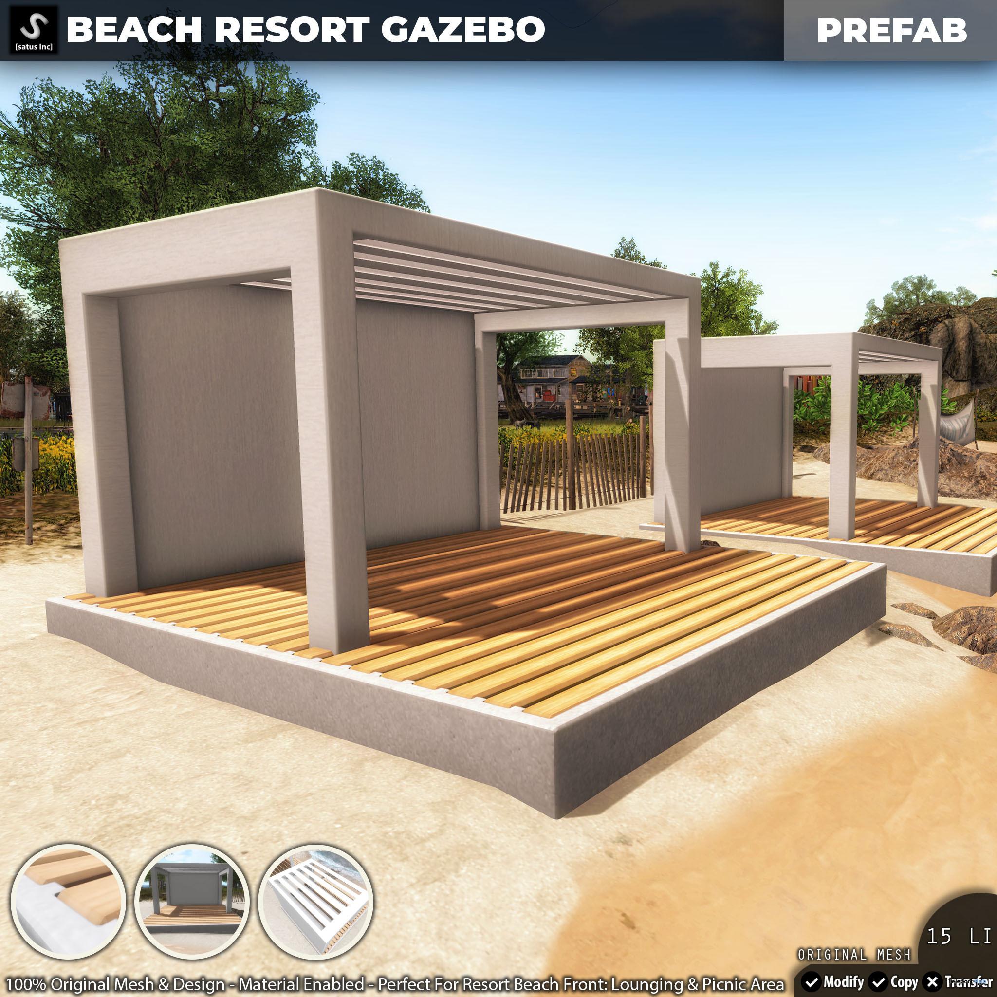 New Release: Beach Resort Gazebo by [satus Inc] - Teleport Hub - teleporthub.com