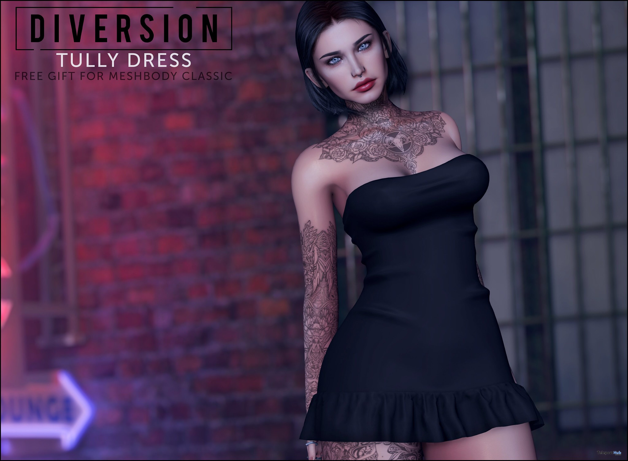 Tully Dress For MeshBody Classic August 2021 Gift by Diversion - Teleport Hub - teleporthub.com