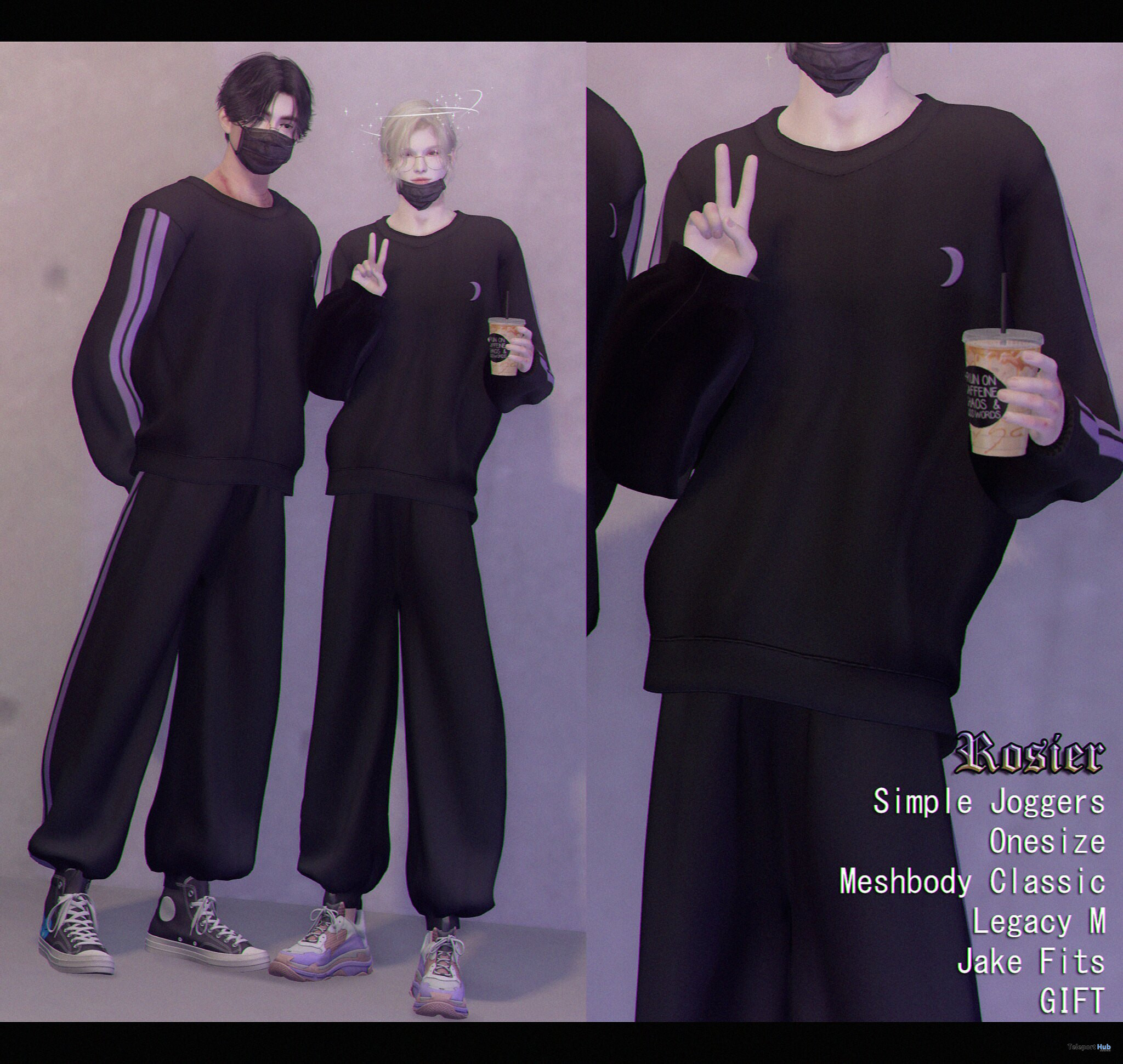 Male Onesie Joggers August 2021 Gift by {Rosier} - Teleport Hub - teleporthub.com