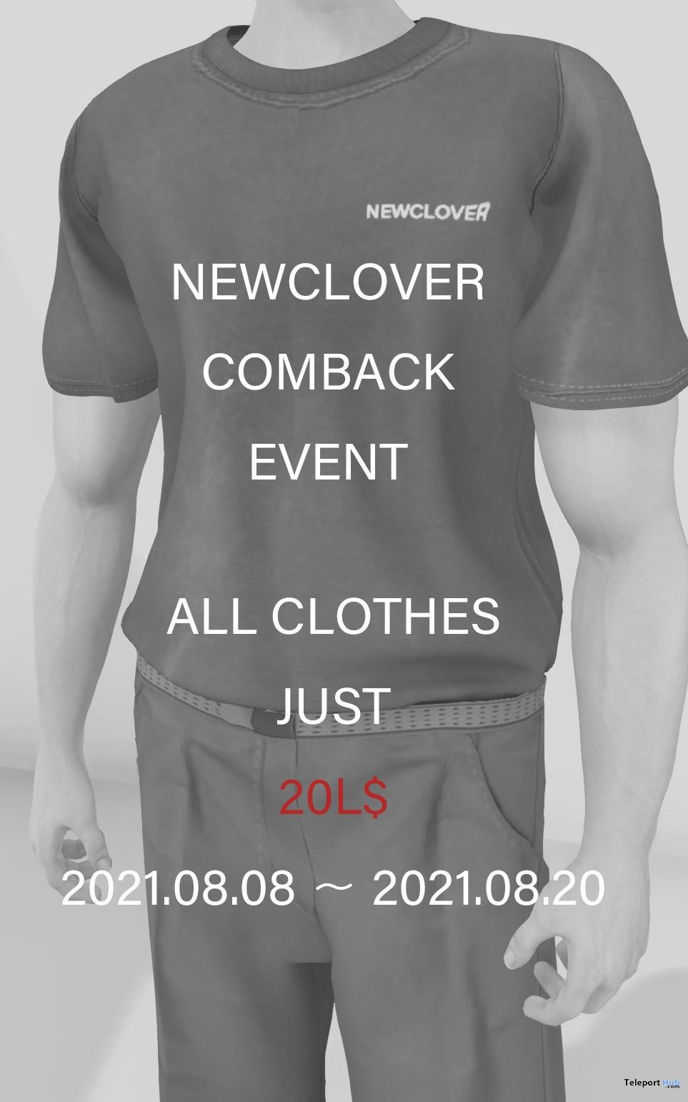 NEWCLOVER Come Back 20L Sale Event 2021 - Teleport Hub - teleporthub.com