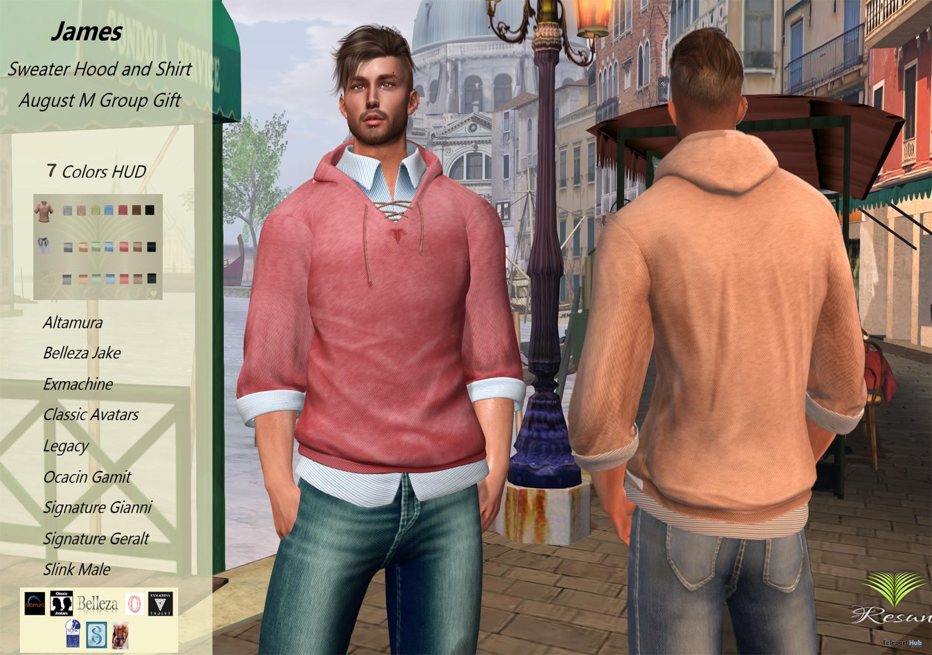 James Sweater Hood & Shirt August 2021 Group Gift by Resun Fashion Store - Teleport Hub - teleporthub.com