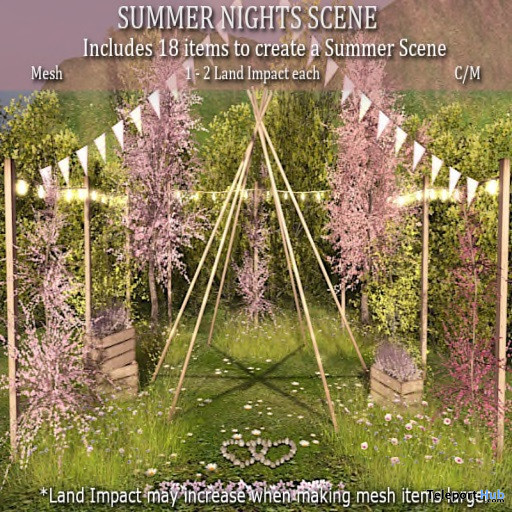 Summer Night Scene August 2021 Gift by LOVE Superstore - Teleport Hub - teleporthub.com