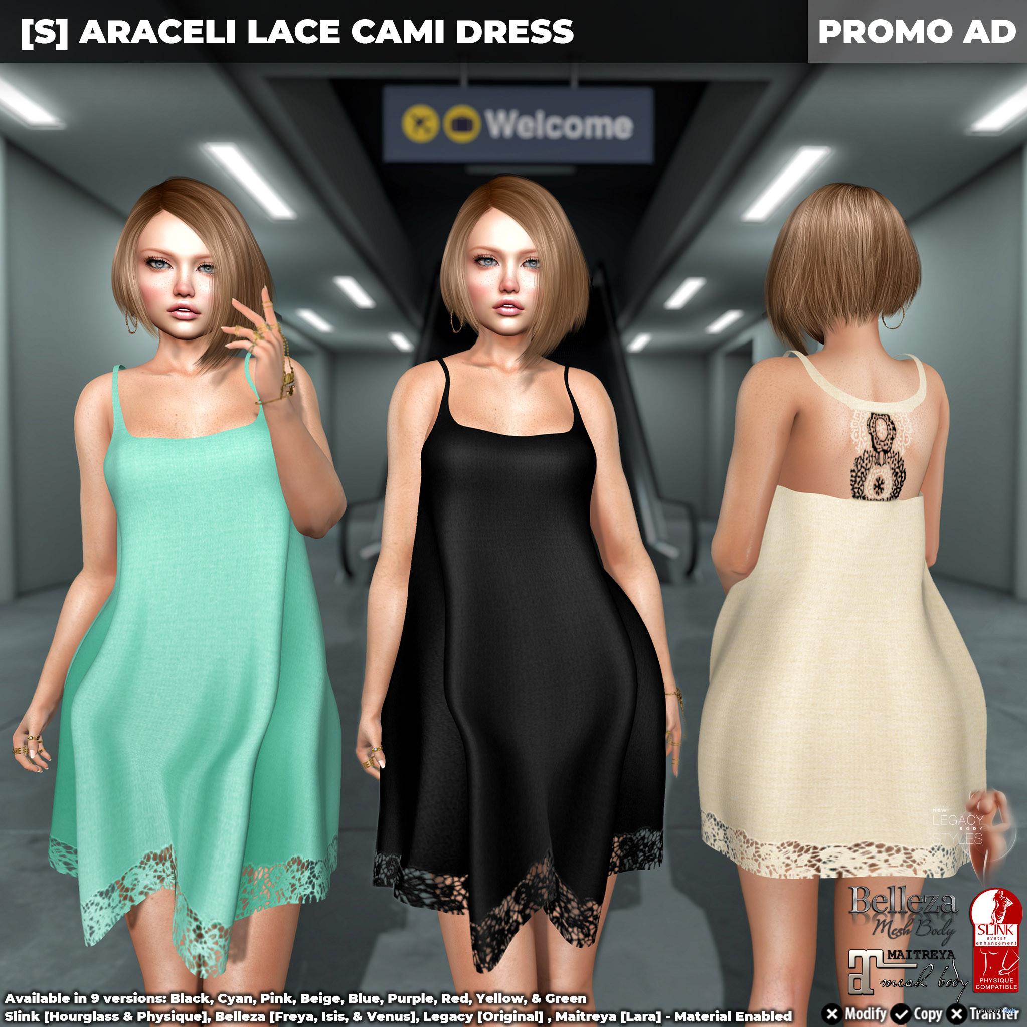New Release: [S] Araceli Lace Cami Dress by [satus Inc] - Teleport Hub - teleporthub.com
