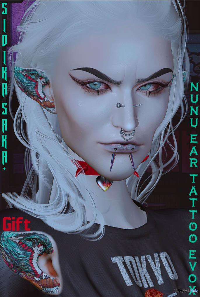 Nunu EvoX Ear Tattoo August 2021 Gift by SIDIKA SAKA - Teleport Hub - teleporthub.com