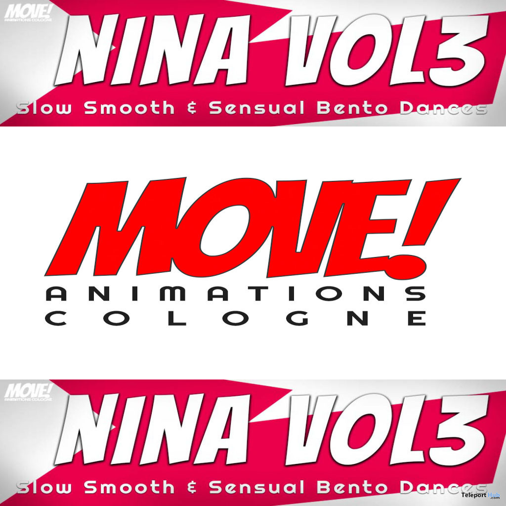 New Release: Nina Vol 3 Bento Dance Pack by MOVE! Animations Cologne - Teleport Hub - teleporthub.com