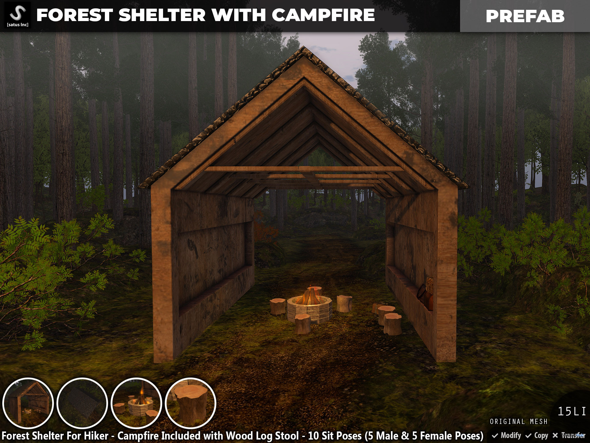 New Release: Forest Shelter With Campfire by [satus Inc] - Teleport Hub - teleporthub.com