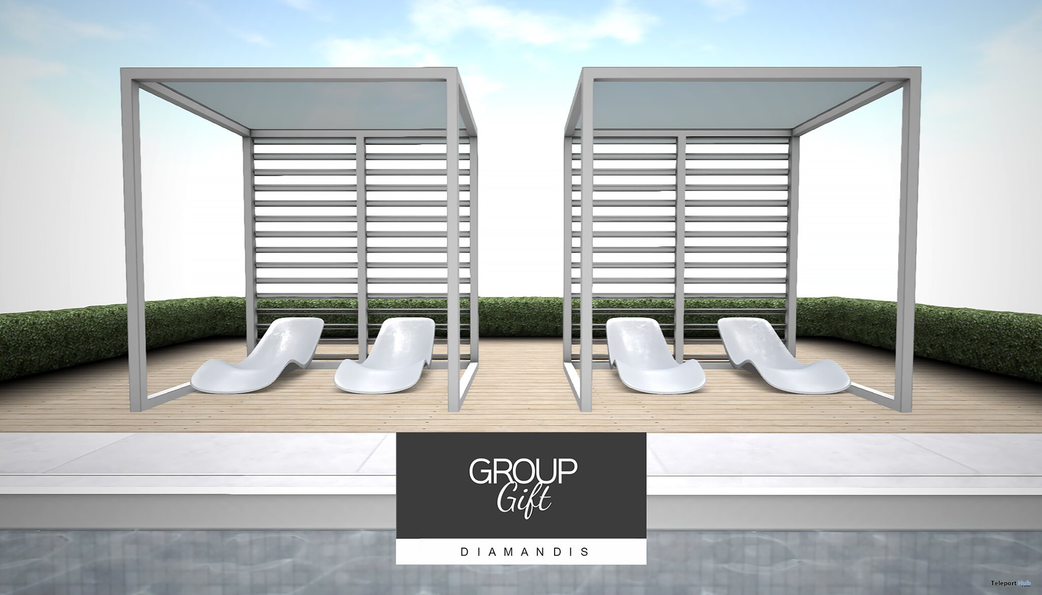 Pool Cabana September 2021 Group Gift by Diamandis - Teleport Hub - teleporthub.com