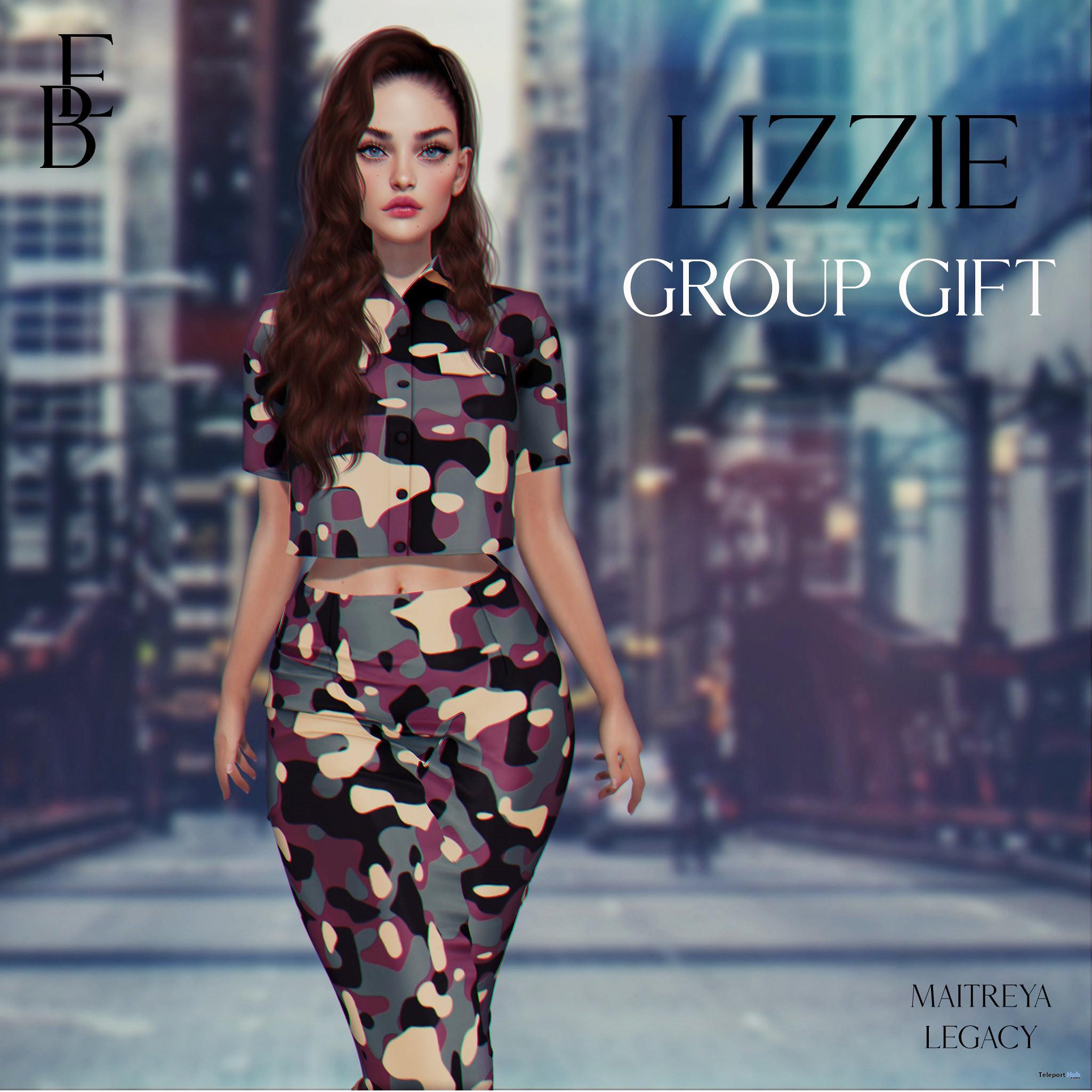 Lizzie Dress September 2021 Group Gift by Belle Epoque - Teleport Hub - teleporthub.com