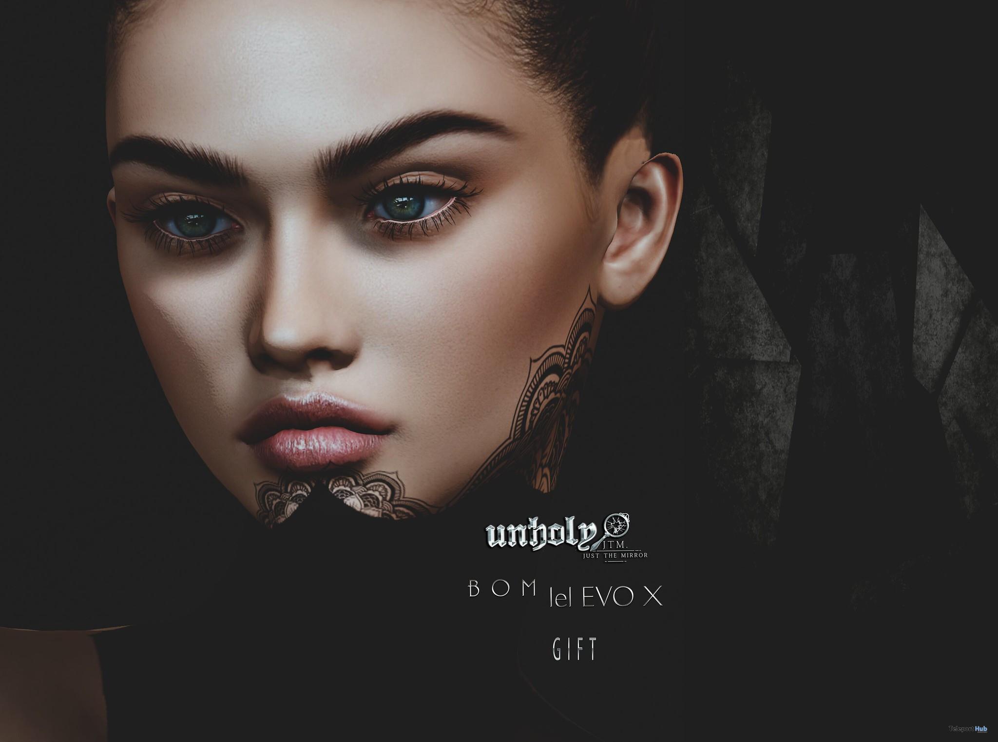 Rose Lelutka EvoX BOM Face Tattoo September 2021 Group Gift by Unholy&JTM - Teleport Hub - teleporthub.com