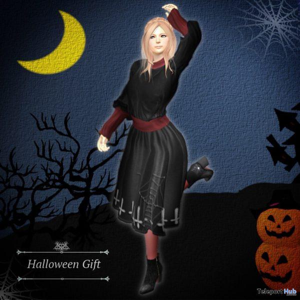 Halloween Dress September 2021 Group Gift by S@BBiA - Teleport Hub - teleporthub.com