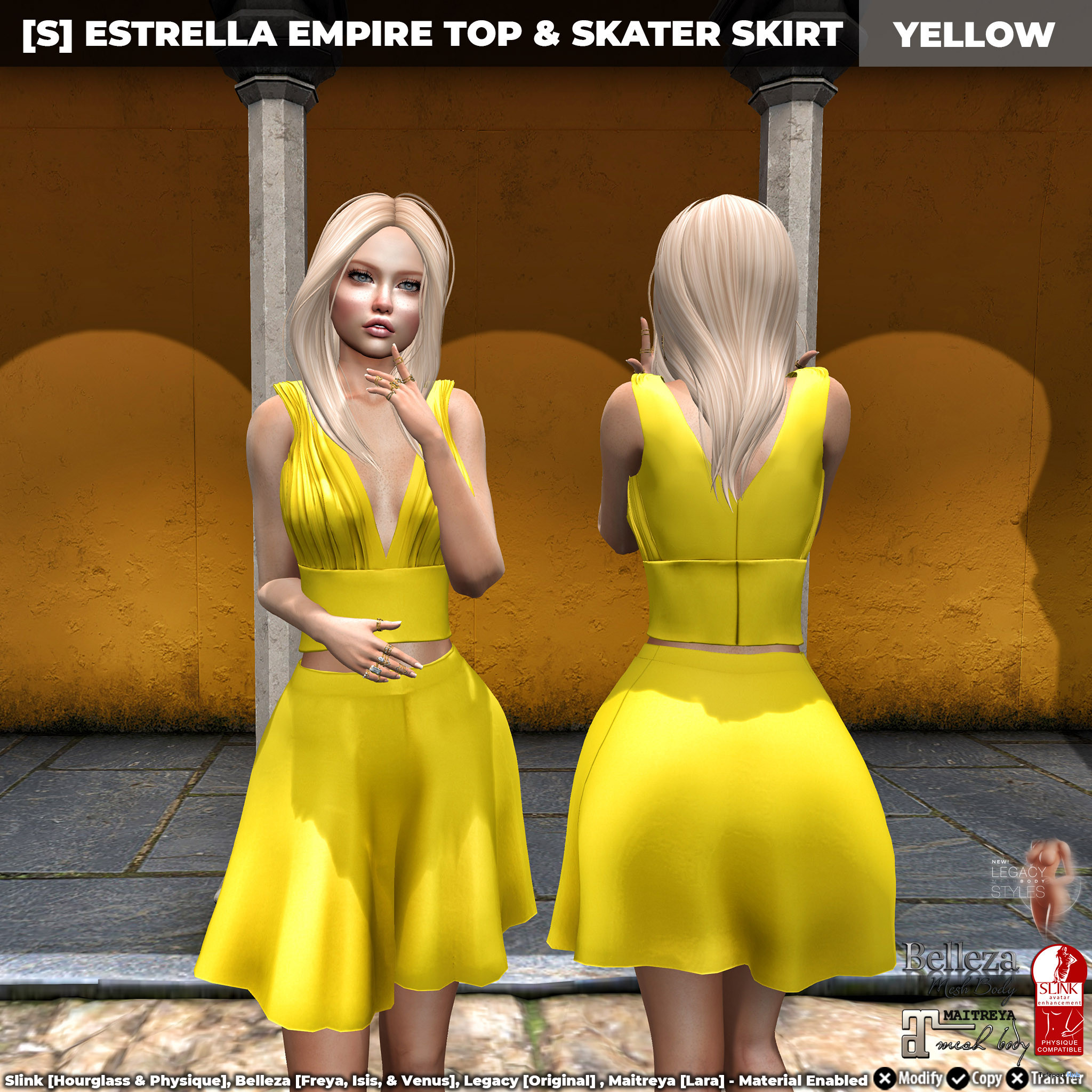 New Release: [S] Estrella Empire Top & Skater Skirt by [satus Inc]- Teleport Hub - teleporthub.com