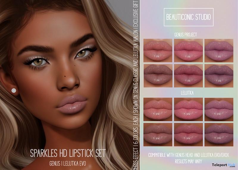 Sparkles HD Lipstick Set September 2021 Group Gift by Beauticonic Studio - Teleport Hub - teleporthub.com
