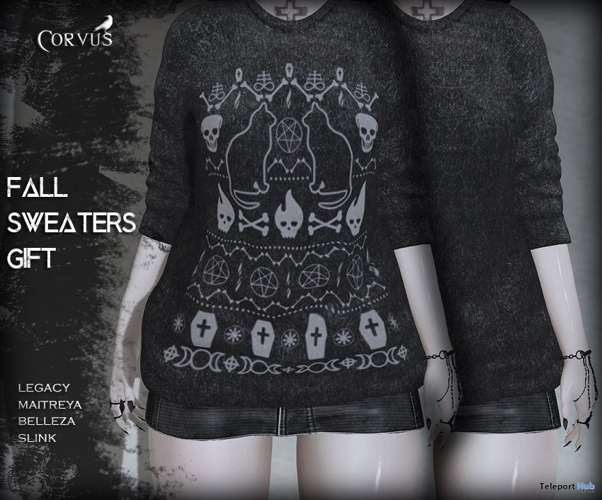 Fall Sweaters September 2021 Group Gift by Corvus - Teleport Hub - teleporthub.com