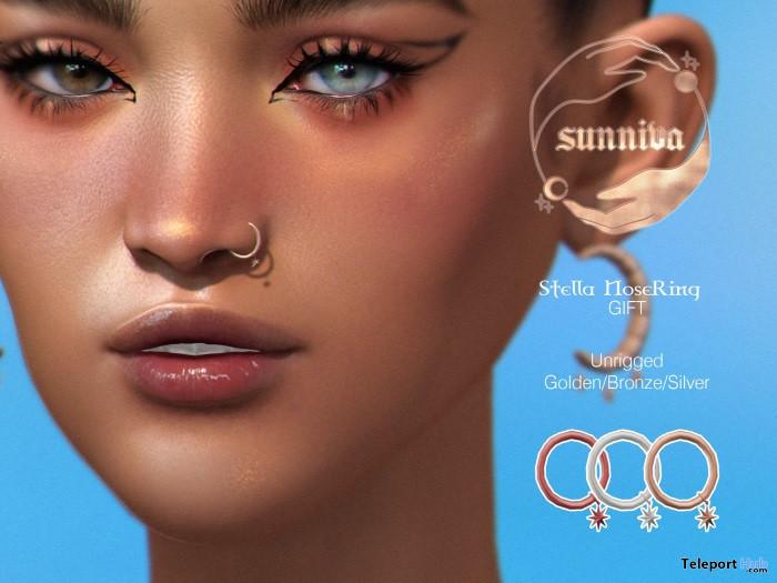 Stella Nose Ring September 2021 Group Gift by Sunniva - Teleport Hub - teleporthub.com