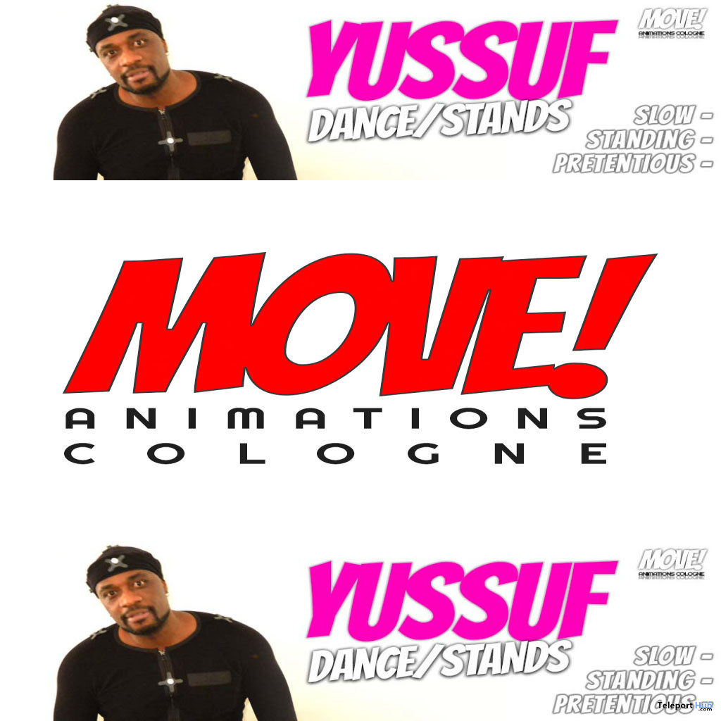 New Release: Yussuf Male Dance Pack by MOVE! Animations Cologne - Teleport Hub - teleporthub.com