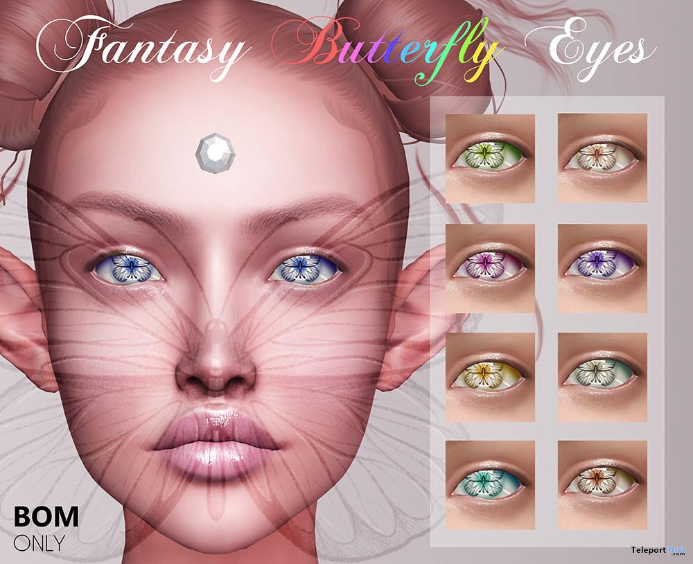Fantasy Butterfly Eyes BOM 99L Promo by APOLLEMIS Tattoos - Teleport Hub - teleporthub.com