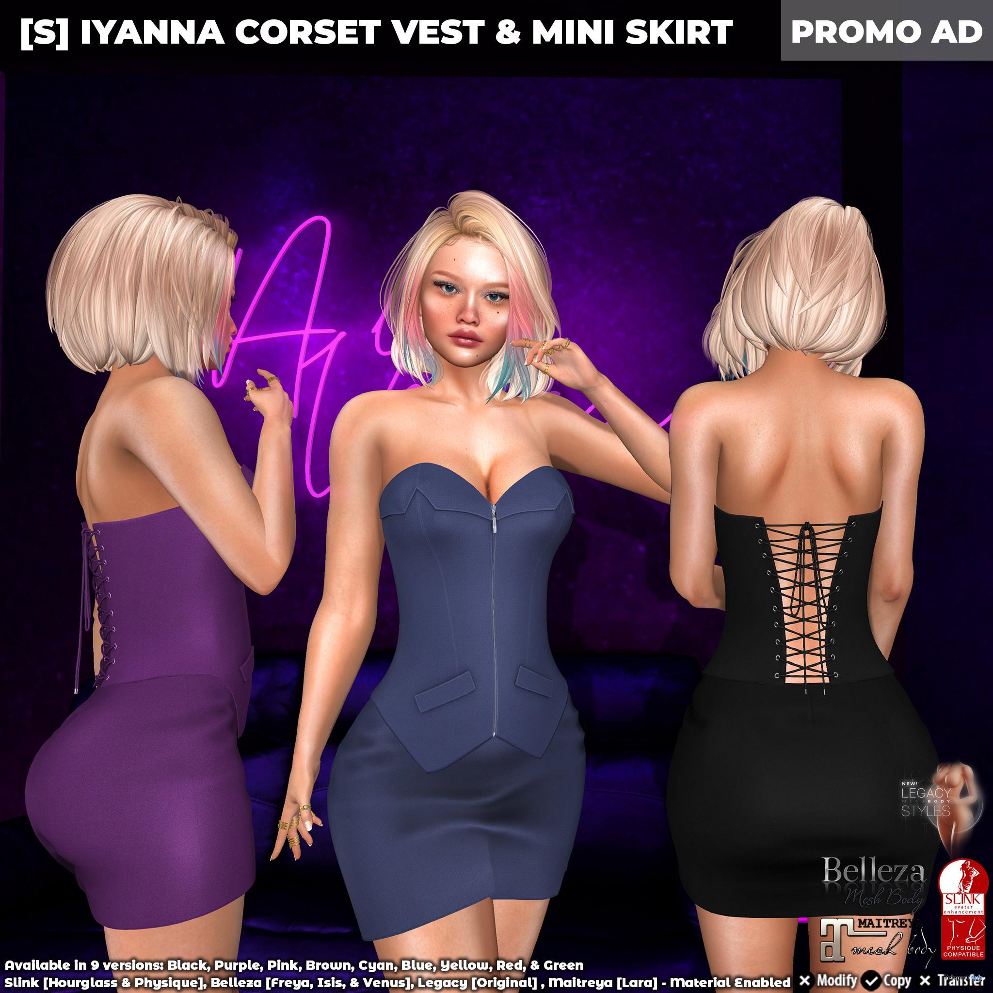 New Release: [S] Iyanna Corset Vest & Mini Skirt by [satus Inc] - Teleport Hub - teleporthub.com