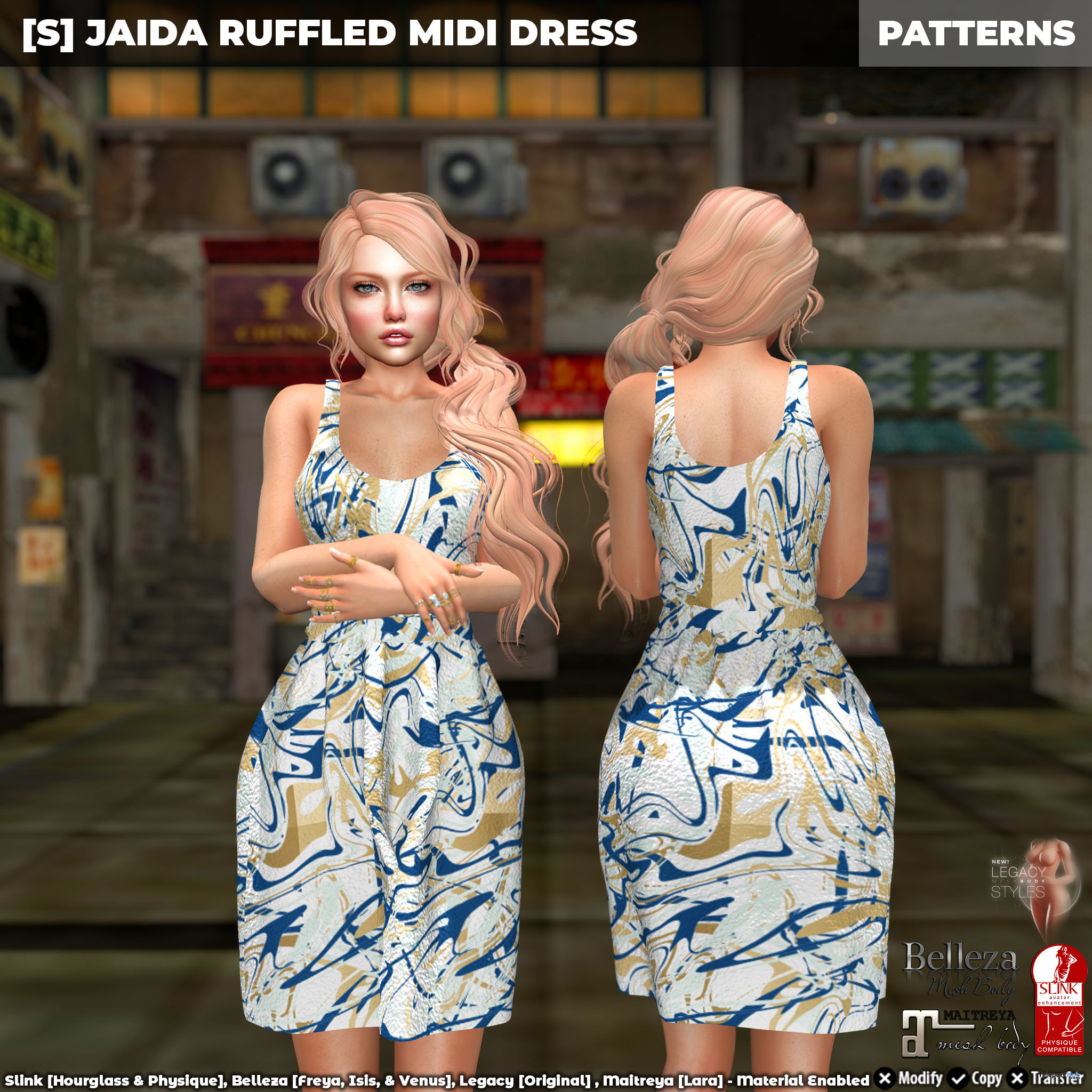 New Release: [S] Jaida Ruffled Midi Dress by [satus Inc] - Teleport Hub - teleporthub.com
