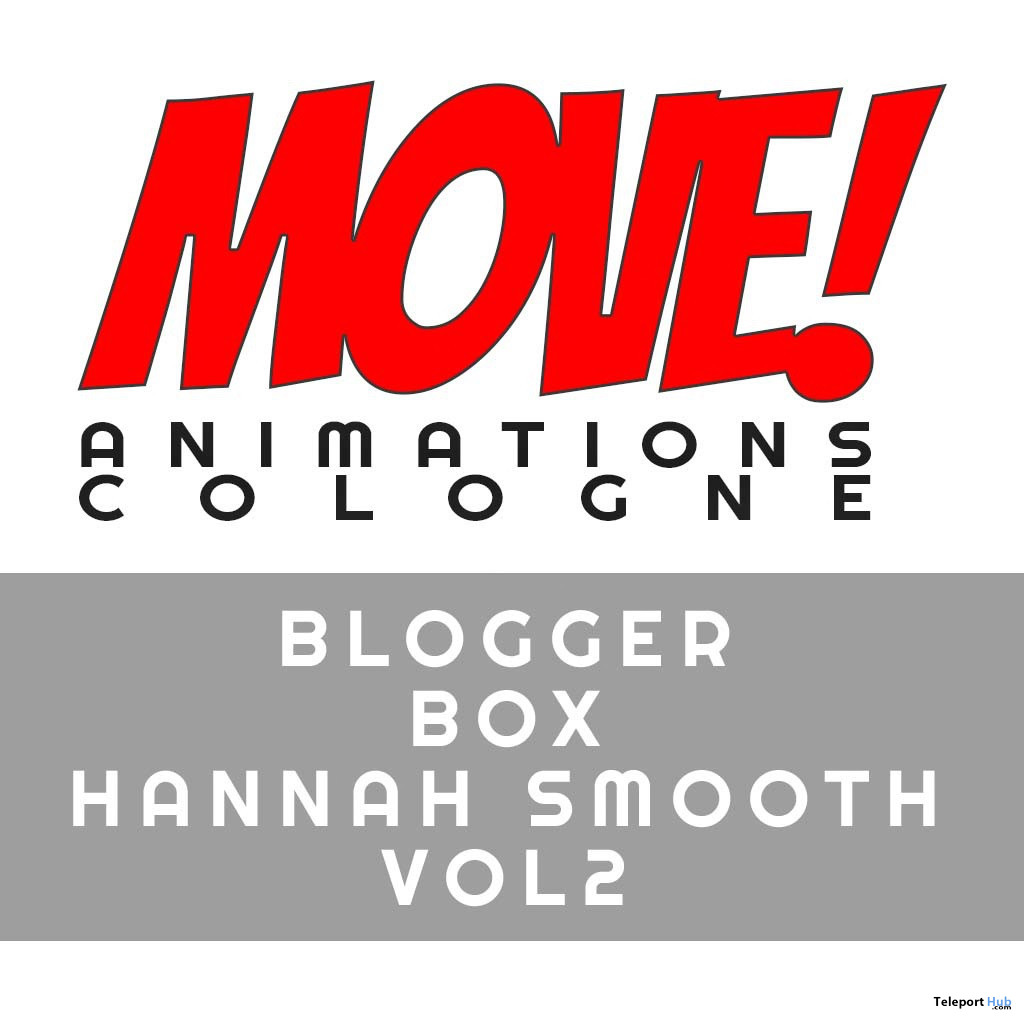New Release: Hannah Smooth Vol 2 Bento Dance Pack by MOVE! Animations Cologne - Teleport Hub - teleporthub.com