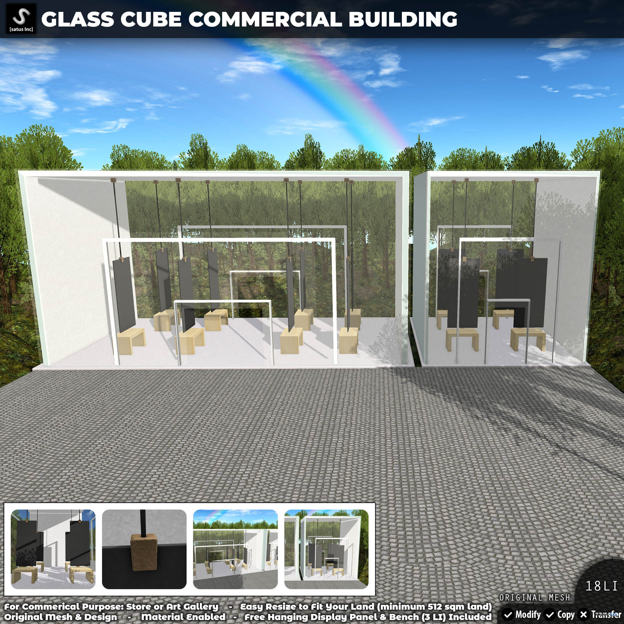 New Release: Glass Cube Commercial Building by [satus Inc] - Teleport Hub - teleporthub.com